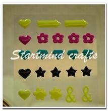 flower arrow heart star camera & gem enamel dot sticker
