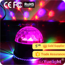 Yuelight beautiful rgb crystal rotating disco ball lamp