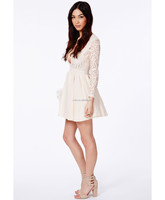 2014 Long Sleeve Sexy Short Summer Wholesale Cheap Price Lady Luxury Clothes Brand For Women New Lace Dress