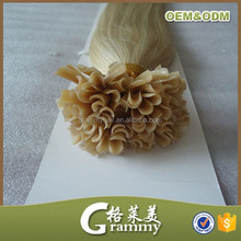 Directly factory high quality keratin fusion tip 100% remy human hair extension