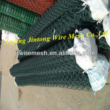 Green Color PVC Coated Chain Link Fencing For Garden