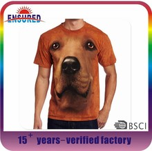 Yr own design top quality all over sublimation printing t-shirt