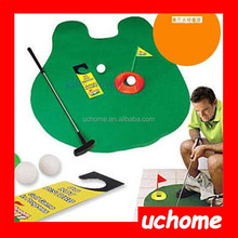 UCHOME 2015 New toys Potty Putter Toilet golf Toilet time golf game