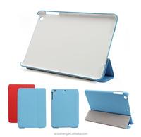 3 folded smarter leather cover case for ipad mini