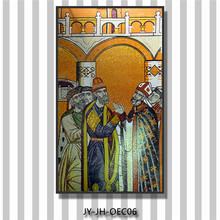 ZTCLJ JY-JH-OEC06 Church Prayer Room Art Wall Mural Hanging Glass Mosaic Painting Handmade Tiles Religious Mosaic Picture