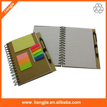 Special design notebook with pet index,sticky notes, ballpen for office/school
