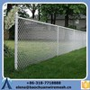 Anping Baochuan chain link galvanized fence with top barbed wire diamond wire mesh for airport filed fence