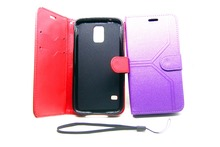 luxury card holder slots genuine leather wallet flip cover case for samsung galaxy s4 i9500