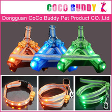 Hot Sale LED Flashing pet dog wire harness Super Light in the night safety