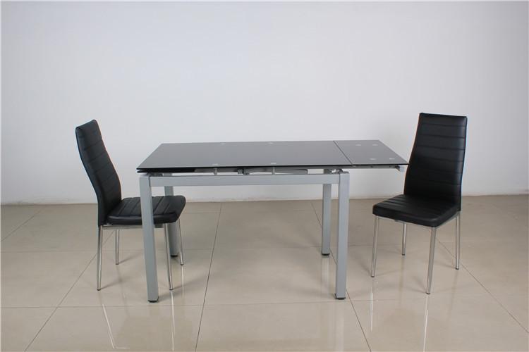 Multifuncional diseño extensible 6 plazas mesa comedor de cristal ...