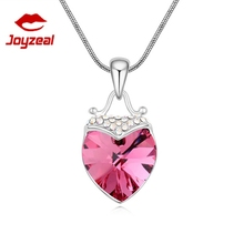 Heart crystal necklace hot selling