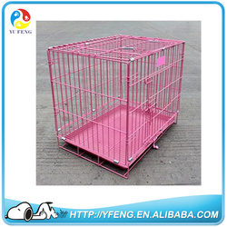 High Quality Wholesale Cheap Iron Fence Dog Kennel Folding Dog Cage