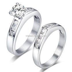 Fahion design low cost pair engagement ring