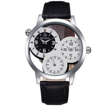 Fashion Leather Three Movts Japan Men Watches