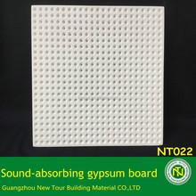 Sound absorbing office gypsum ceiling board