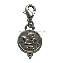 Wholesale Europe Style Pendant Round Zinc Alloy Metal Hanging Charms