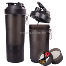 400ml sports joyshaker with ball Plastic joyshaker pc shaker water drinking bottle with two container