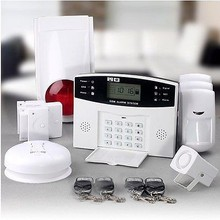 built-in sms message one key control function wireless home security alarm wireless coding easy program alarm system