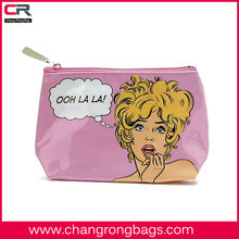 3D Comic women cartoon printed wash bag /Journey cosmetic pouch /toilet pouch