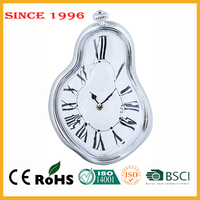 ABS plastic silver patented special wall hanging dali melting clock