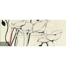 Handmade Modern abstract simple flower paintings oils on canvas, pop art