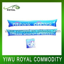 Advertising PE Inflatable Light Up Cheering Stick With Pom Poms