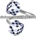 Acrylic Twister Dice Belly Ring,Navel Ring Body Jewelry