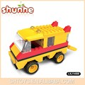 novos produtos da escola de ônibus de brinquedo de blocos de construção
