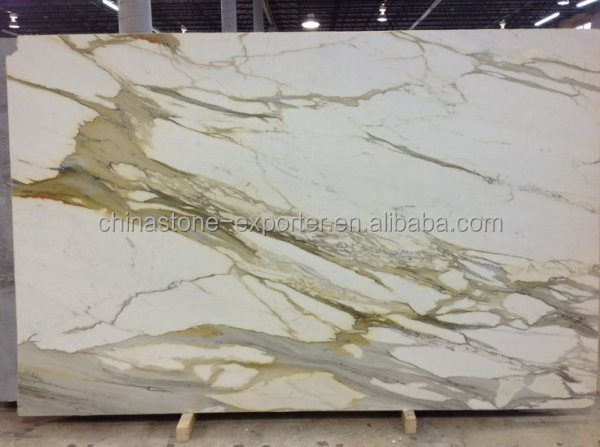 Italie plaque de marbre blanc calacatta oro marbre dalles de carrelage calacatta or marbre - Marbre blanc calacatta ...