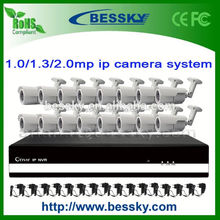 16channel IP CCTV camera system h.264 cctv security recording system 60fps full hd 1080p sport camera dvr BE-6016SLIPWB