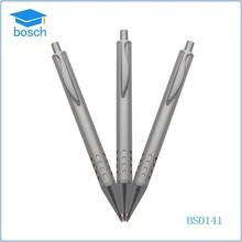 School student used simple metal pen ,metal grey push pen for promotion