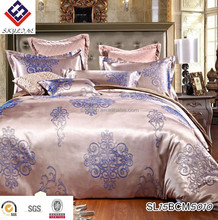 Wedding bedding European Wedding Lace four piece sets dark red modal jacquard bedding sets