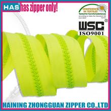 long chain zipper HAS brand fancy color china zipper manufacturer plastic zipper roll