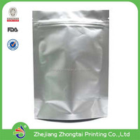 clear front foil backed aluminum foil zipper packaging pouch for medication