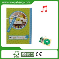 2015 Hot sale custom voice recordable greeting card module for toys