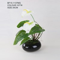 Real touch artificial anthurium plant for decoration