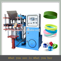 deboesed and embossed silicone wristband making machine