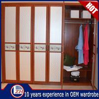 ZHUV veneer designs laminated plywood wardrobe in open style