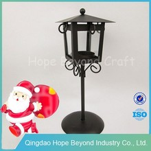 Hot black wrought iron candle holder insert metal holders