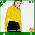 regalo de navidad elegante blusa de diseño de blusa de modelo para las mujeres uniforme de camisa de manga larga