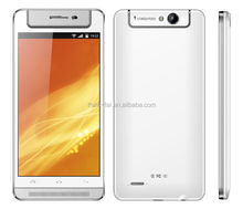 XBO android 5.0inch mtk6572 dual core dual sim dual standby 3G GPS WIFI mobile phone with rotating camera smartphone