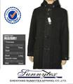 Sunnytex estilo largo superventas abrigos transpirables negro de invierno de lana para Hombres