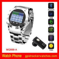Fashion sport hand free watch phone MQ888 with Bluetooth, FM, Camera ,CE, FCC, RoHS certification