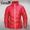100% nylon fabric polish breathability red down jacket for women outdoor active