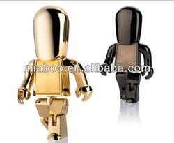 Excellent metal man usb flash drive with grade A chip,gold man usb stick 2.0