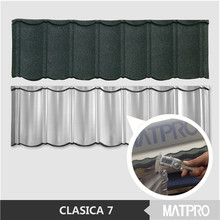 classic stone coated chip steel galvanized roof tile
