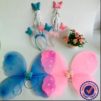 Online -wholesale candy color fairy wing / angel wing / butterfly wing set three on alibaba