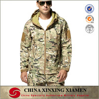 Custom Waterproof outdoor CP camo military softshell jacket for army