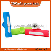 best products private label sucker power bank 2600mah for smartphone