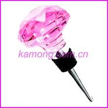 Crystal diamond Useful Drink Reception Stunning Chrome Bottle Wine Stopper (w-466)
